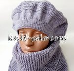 Берет спицами - knit-solo.com