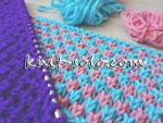 Двухцветный узор спицами - knit-solo.com