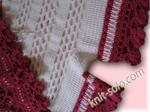 Детский комплект: вязаное крючком платье и штанишки