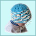 Летняя шапочка крючком для малыша