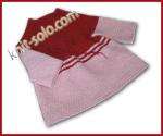 Вязаное крючком теплое детское платье