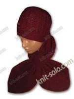 Комплект: шапка+шарфик спицами - knit-solo.com