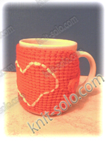 Вязаная грелка для чашки