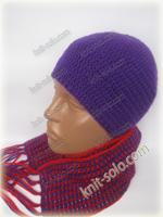 Шапка и шарфик крючком - knit-solo.com