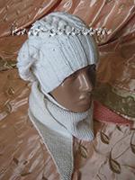 Женский берет и бактус спицами - knit-solo.com
