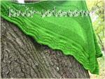 Вязаная спицами шаль Green Field - knit-solo.com