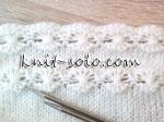 Декоративный узор спицами - knit-solo.com