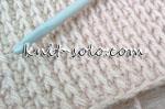 Плотный узор с накидами тунисским крючком - knit-solo.com