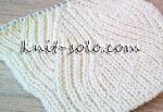 Узор на полупатентной резинке - knit-solo.com