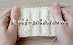 Рисовая резинка спицами - knit-solo.com