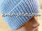 Шапка спицами резинкой 1 на 1 - knit-solo.com