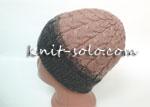 Вязаная шапка с отворотом - knit-solo.com