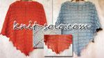 Треугольная ажурная шаль спицами - knit-solo.com