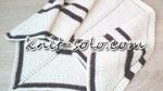 Треугольный бактус спицами - knit-solo.com