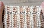 Рельефный двухцветный узор ТВИДОВЫЕ ПОЛОСЫ спицами - knit-solo.com