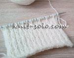 Красивый простой узор спицами - knit-solo.com