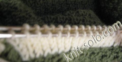 Планка спицами полой резинкой