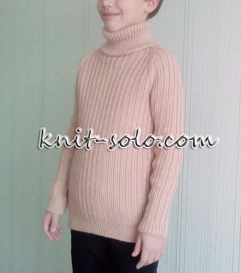 Вязаный спицами свитер для мальчика - knit-solo.com