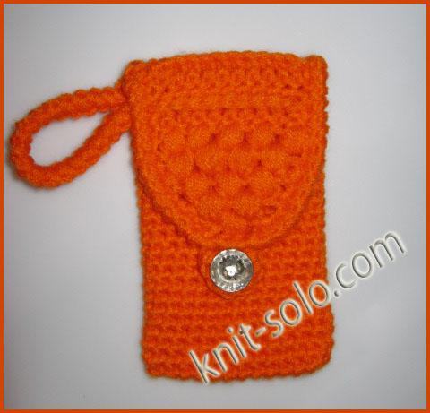 Вязаный крючком чехол для мобильного телефона