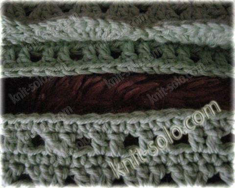 Подушка, бабушкин квадрат, www.knit-solo.com