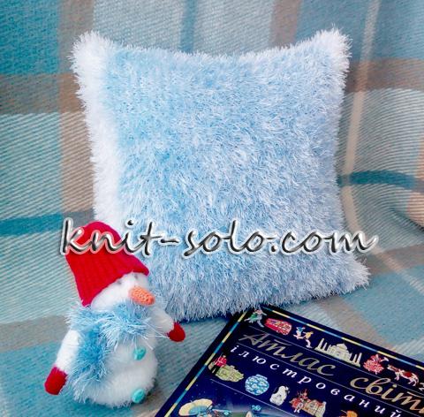 вязаная подушка - knit-solo.com