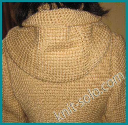 Связать пальто тунисским вязанием 61