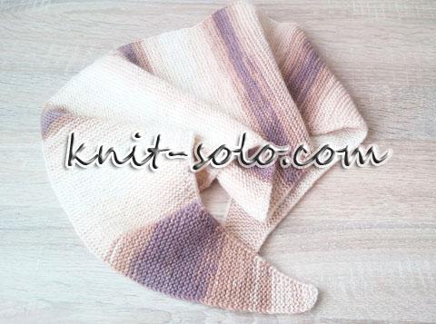 Классический бактус спицами платочным узором - knit-solo.com