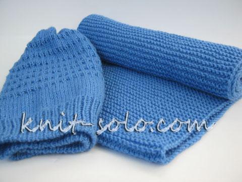 Вязаный спицами снуд и шапка - knit-solo.com