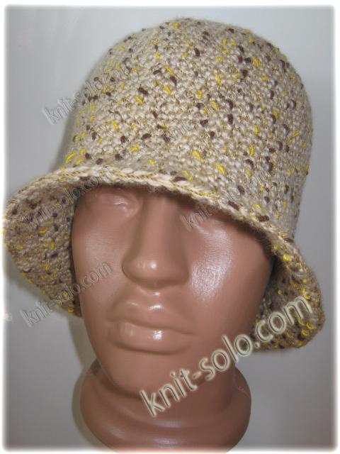 Вязаная крючком женская шляпка - knit-solo.com