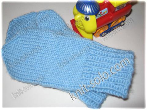 Вязание для детей двойные варежки 28