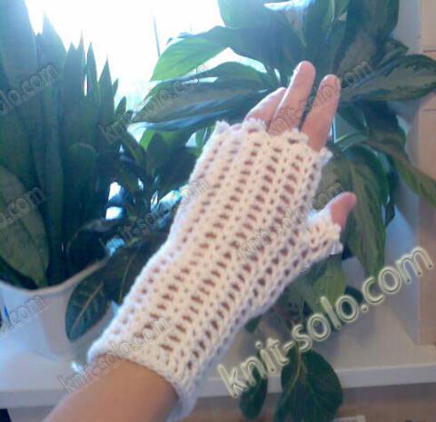 митенки крючком - knit-solo.com