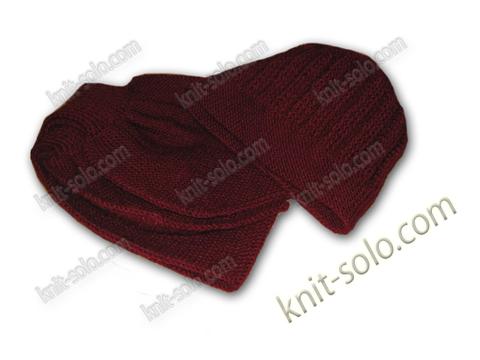 шапка и шарф спицами - knit-solo.com