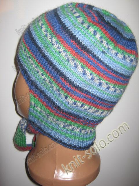 шапка спицами для ребенка 2-3-х лет - knit-solo.com