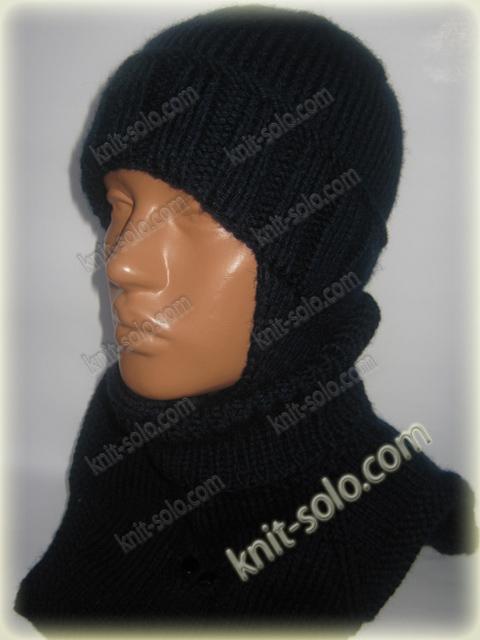 Шапка и манишка спицами - knit-solo.com