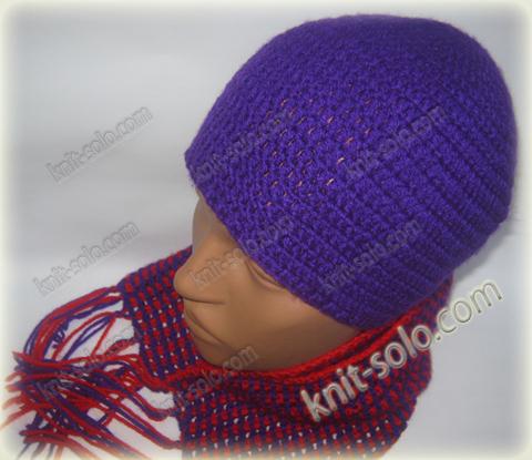 Вязаный комплект для ребенка - шапка и шарф - knit-solo.com