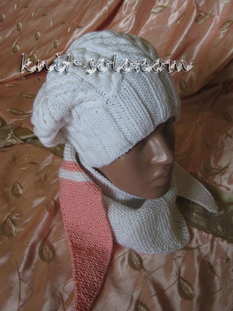 Берет и бактус спицами - knit-solo.com