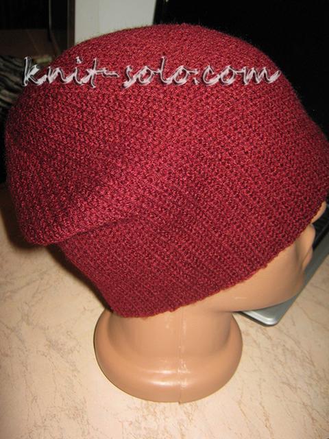 спортивная шапка крючком - knit-solo.com