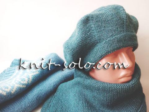 Классический берет спицами - knit-solo.com