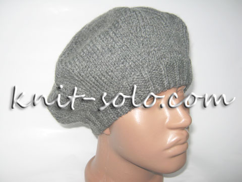 Простой классический вязаный берет - knit-solo.com