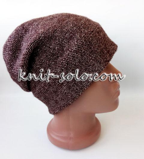 Красивая шапка спицами - knit-solo.com