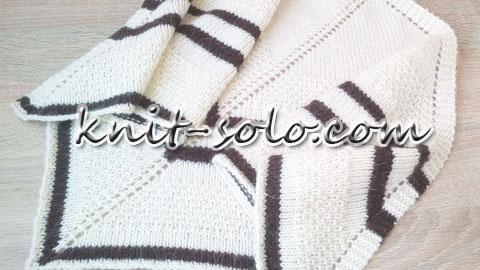 Простой треугольный бактус спицами - knit-solo.com