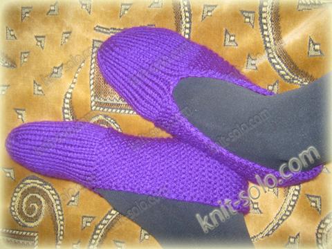 Тапочки спицами - knit-solo.com