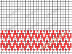 схема узора ленивого жаккарда - knit-solo.com