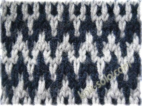 Узоры ленивого жаккарда knit solo com