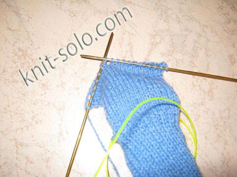 Носки связаные на двух спицах. Мастер-класс