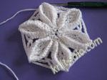 Объемный цветок крючком - knit-solo.com