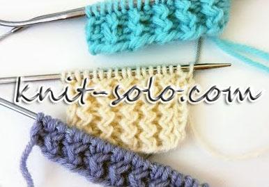 Французская резинка спицами - knit-solo.com