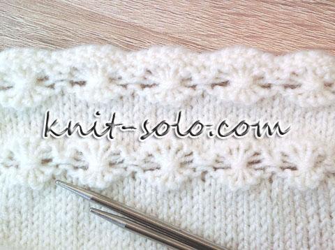 декоративный узор, вязание спицами - knit-solo.com