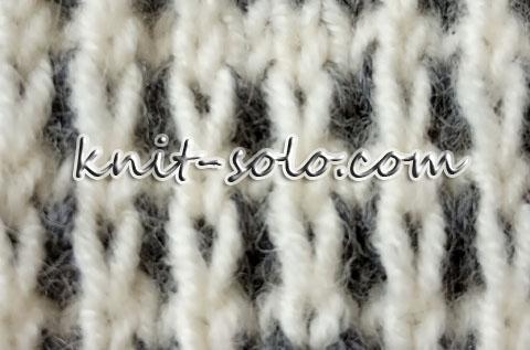 простой узор ленивым жаккардом - knit-solo.com