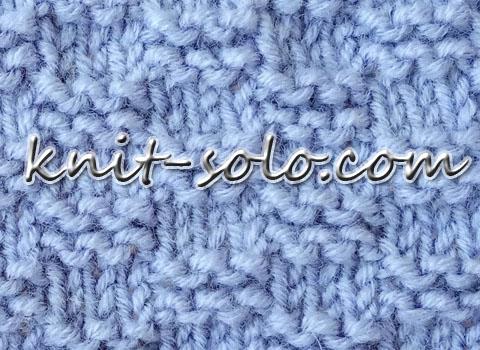 Платочная путанка спицами, простой узор - knit-solo.com